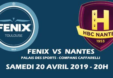 Places à 5€ pour le match Fénix-Nantes !
